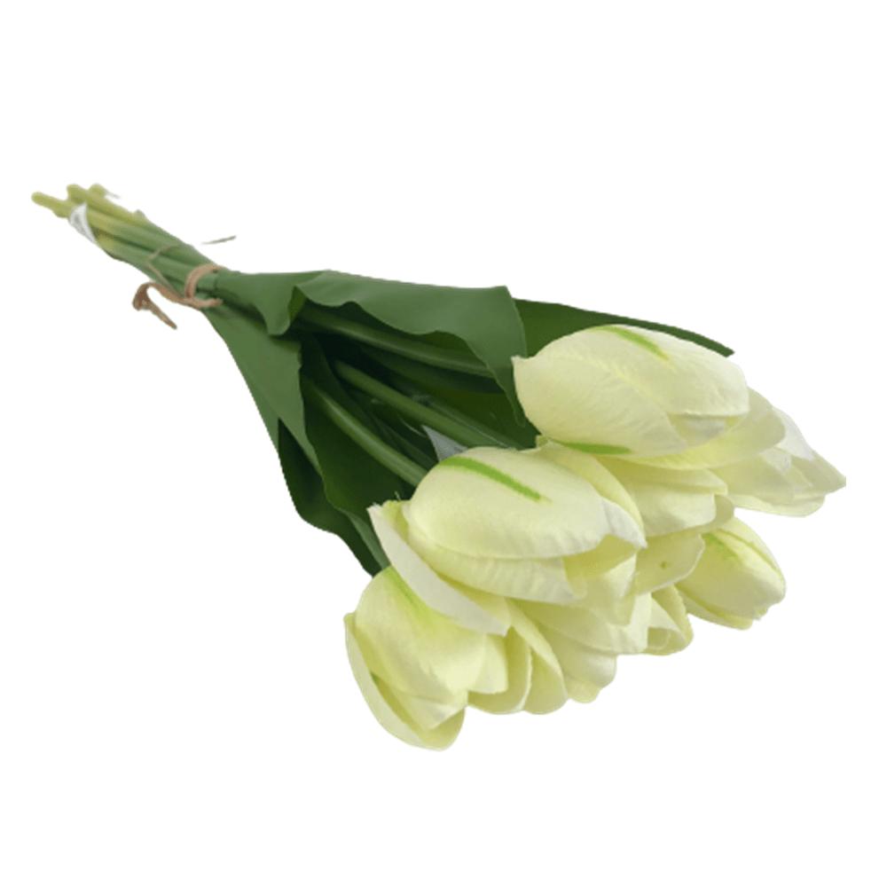 Buquê Artificial Tulipa Branco 40Cm - Bela Flor